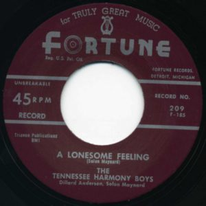 The Tennesee Harmony Boys - A Lonesome Feeling / I'm A Millionaire