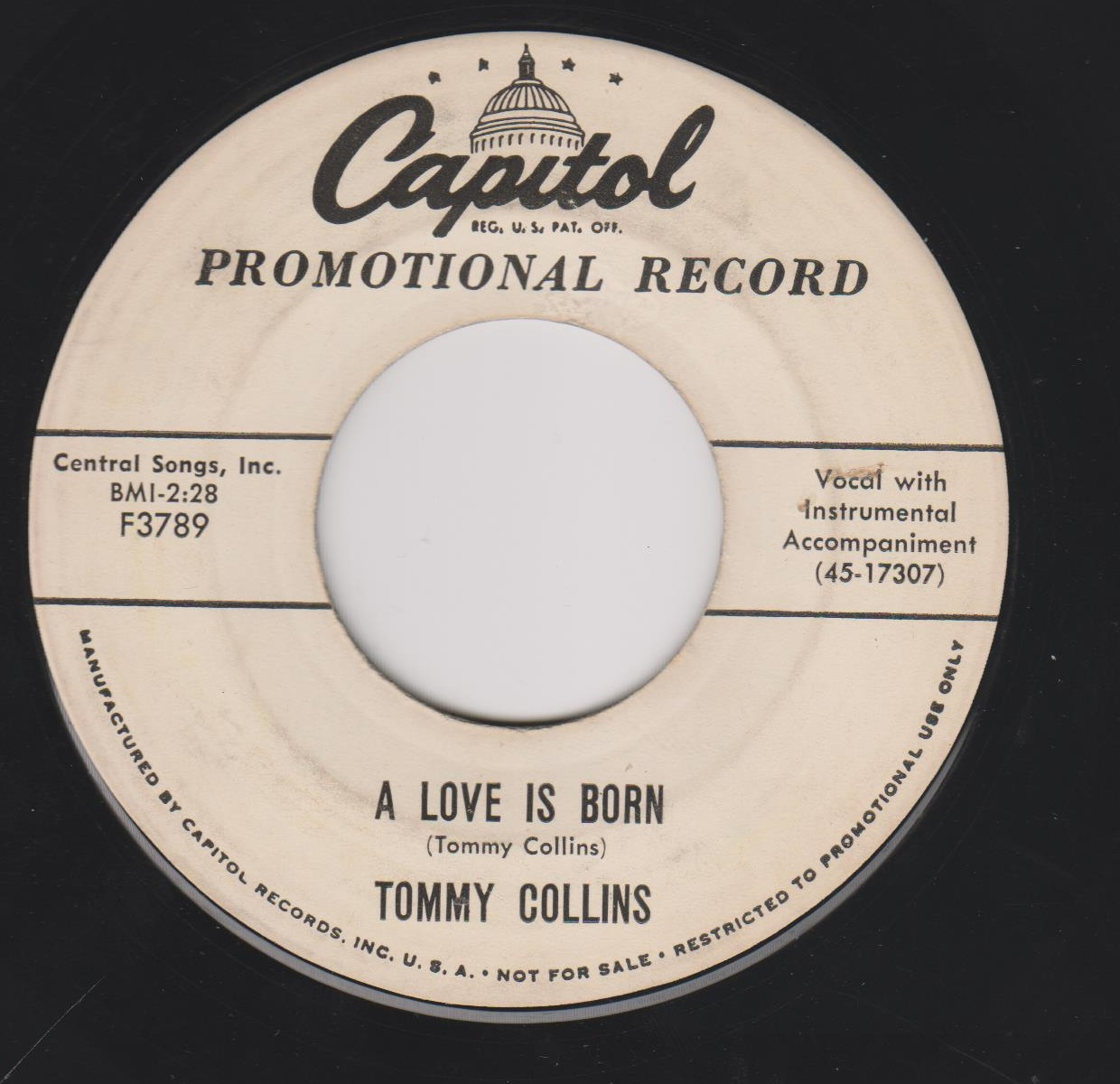 Tommy Collins - A Love Is Born / I'm Nobody's Fool But Yours