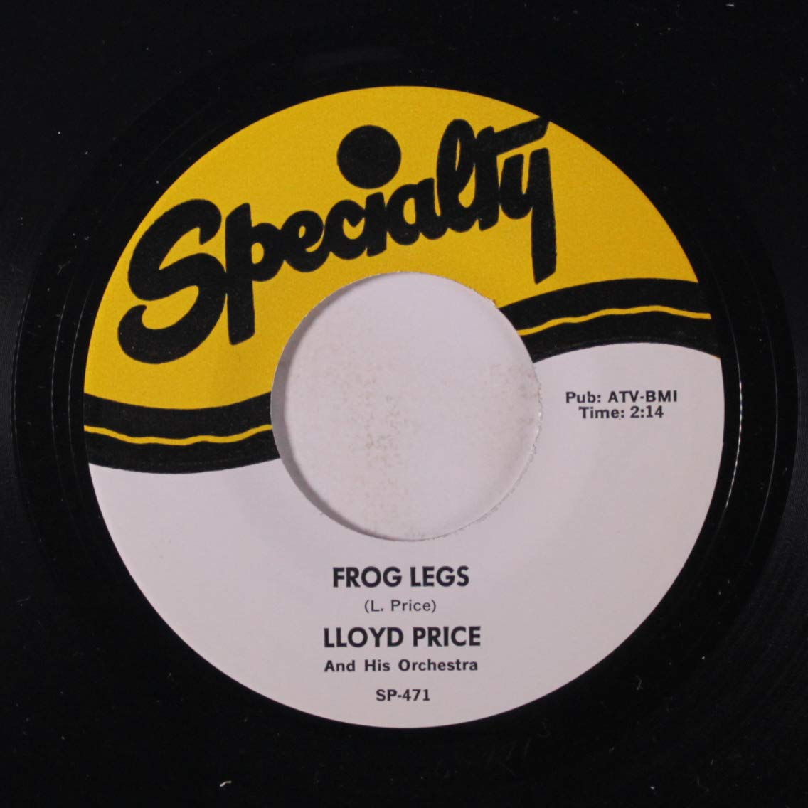 Lloyd Price and His Orchestra - I Wish Your Picture Was You / Frogs Legs