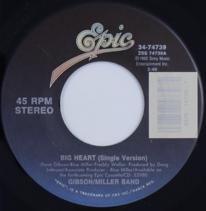 Gibson/Miller Band - Big Heart